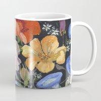 baroque Mugs featuring Baroque Garden by Edith Jackson-Designs