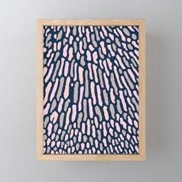 Organic Abstract Navy Blue Framed Mini Art Print