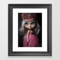 Pink Custom Blythe Darling Diva Art Doll Framed Art Print