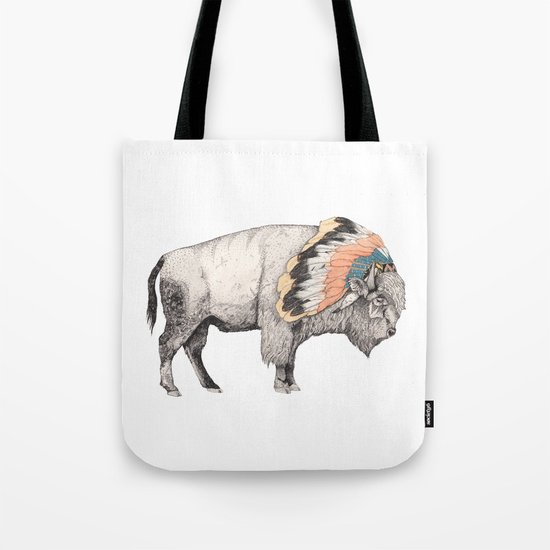 White Bison Tote Bag