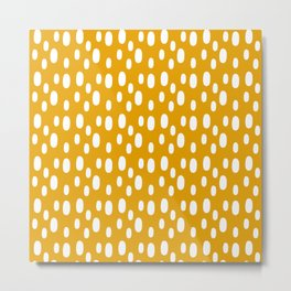 Yellow pattern with white spots Metal Print