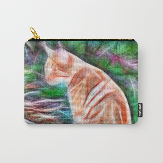 Orange cat sitting on a path in rural Queensland, Australia Carry-All Pouch