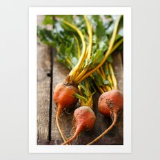 Rustic Golden Beets Art Print