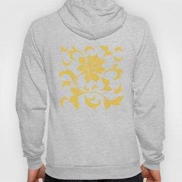 Oriental Flower - Mustard Yellow Hoody
