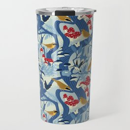 North American Forest Pattern (Blues) Travel Mug