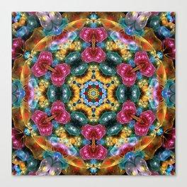 Fractal Jewels Kaleidoscope Canvas Print