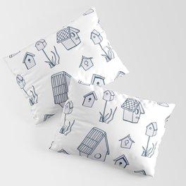 Bird House Drawings, Pattern Pillow Sham
