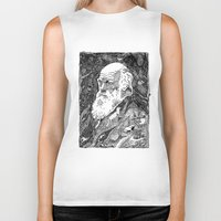 darwin Biker Tanks featuring 'Darwin' by Sarah King by We Are West Coast