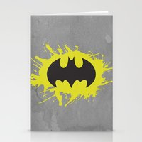 bat man Stationery Cards featuring Bat Man by Some_Designs