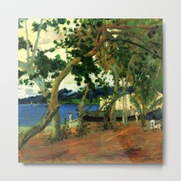"""Paul Gauguin """"On the shore of the lake at Martinique"""" Metal Print"""
