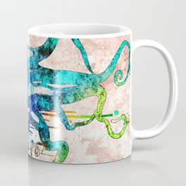 Octopus Grunge Coffee Mug