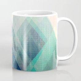 Mountains print, Abstract print, geometric wall art, abstract mountain, minimalist art, modern art, Coffee Mug