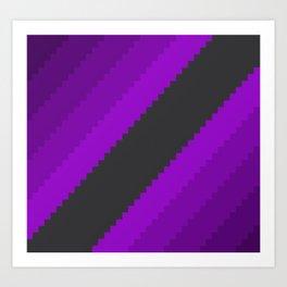 Pixel Grape Juice Dreams - Purple Art Print
