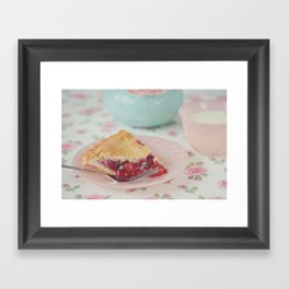 Milk & Pie Framed Art Print