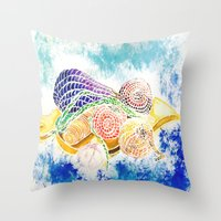 vegetables Throw Pillows featuring Vegetables by Elena_Voro
