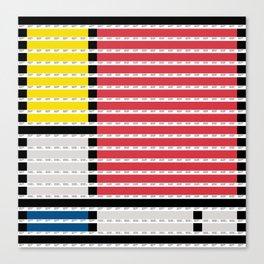 Mondrian pantone as pixel Canvas Print