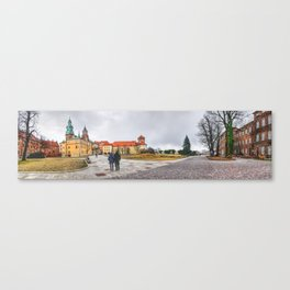 Cracow Wawel panorame 2 Canvas Print