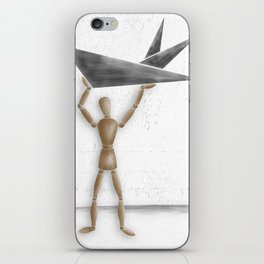 Man With Triangles - Grey iPhone Skin