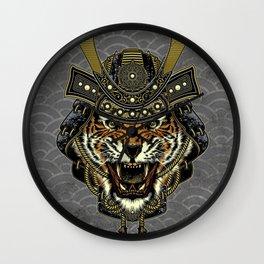 Samurai Tiger Wall Clock
