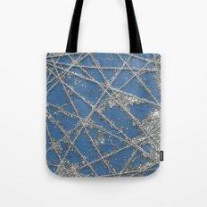 Sparkle Net Blue Tote Bag
