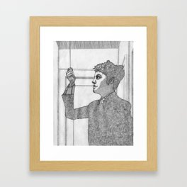 PULLING // DOWN Framed Art Print