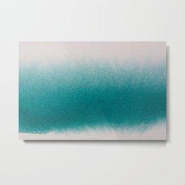 TEAL GRADIENT WATERCOLOUR CONTRAST Metal Print