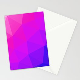 Magenta and Violet Low Poly Pattern Stationery Cards