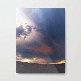 Helena, Montana thunderstorm and sunset Metal Print