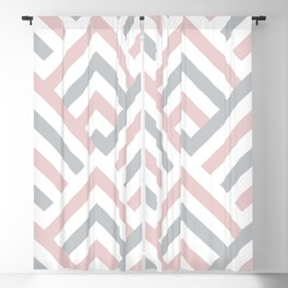 Pink + Gray   Brentwood Abstract Art Blackout Curtain