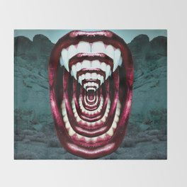 Moloch Mouth Throw Blanket