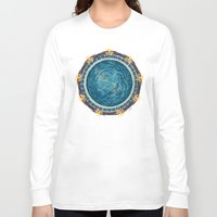 stargate Long Sleeve T-shirts featuring Starry Gate by girardin27