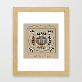 American Native Pattern No. 115 Framed Art Print
