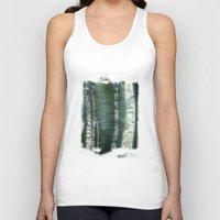 birch Tank Tops featuring birch trees by hannes cmarits (hannes61)