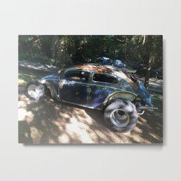 Custom car Rat Rod Metal Print