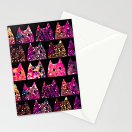 Glitter cats-71 Stationery Cards