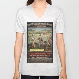Vintage poster - WWI Canadian Recruiting Unisex V-Neck