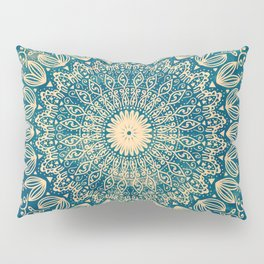 BLUE ORGANIC MANDALA Pillow Sham