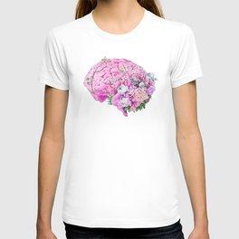 Floral Brain Pale Pink T-shirt