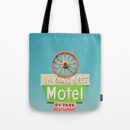 Wagons West Motel Tote Bag