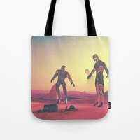 giants Tote Bags featuring Giants  by @slimesunday