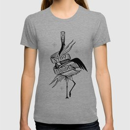 Stay Down. Japanese Crane T-shirt