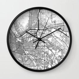 El Paso Map White Wall Clock