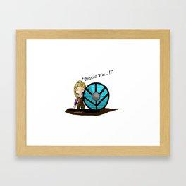 Baby Lagertha Framed Art Print