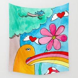 Rainbow Puke Wall Tapestry
