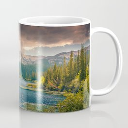 Mountains, Pines, Clouds Landscape Coffee Mug