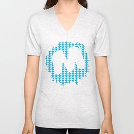 Moulded Triangle / Moulded Rides Unisex V-Neck