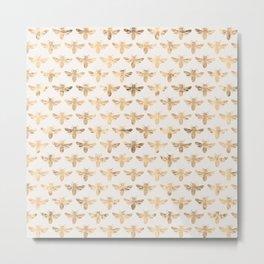 Honey Bees (Sand) Metal Print