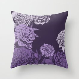 VIOLET FLORAL SYMPHONY Throw Pillow