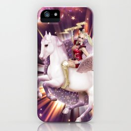 Andora: Drag Queen Riding a Unicorn iPhone Case