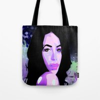 aaliyah Tote Bags featuring Aaliyah by UnifiedGlory
